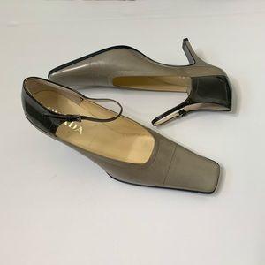 Prada Mary Janes leather & patent leather heels 8
